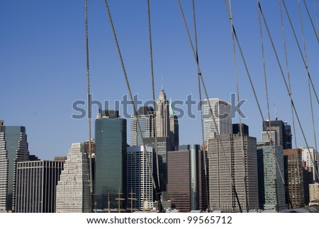Lower Manhattan in a sunny morning, New York, United States