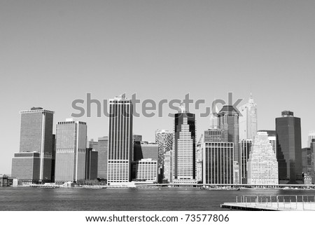 lower Manhattan Skyline , New York City - stock photo