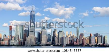 Lower Manhattan Skyline, NYC, USA #1084543337