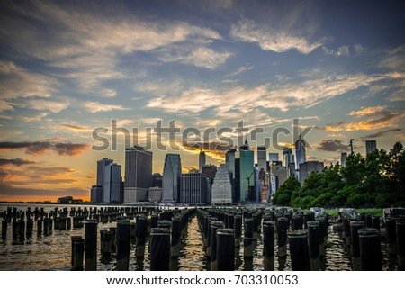 Lower Manhattan Sunset #703310053