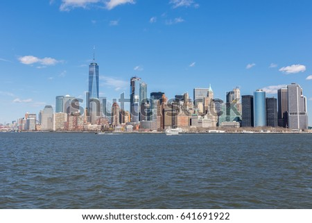 Lower manhatten skyline #641691922