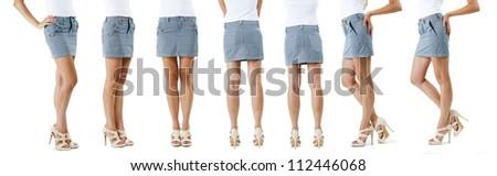 Lower than a belt - stylish women's clothing. Skirt.