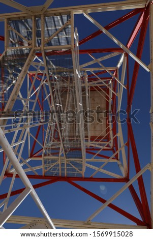 lower view of a telecom tower