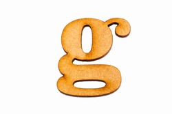 Lowercase letter g - Piece in wood