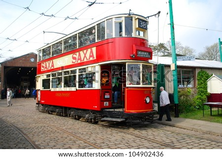 LOWESTOFT, ENGLAND - MAY 6: The 50th anniversary of the closure of the London trolleybus system, once the largest in the world, was commemorated on May 6, 2012, Lowestoft, England