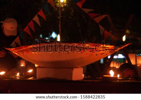 LOY KRATONG FESTIVAL  and Lantern festival  in Chiangmai Thailand  and asking for forgiveness from the river