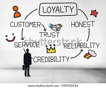 Loyalty Customer Service Trust Honest Reliability Concept Foto d'archivio ©
