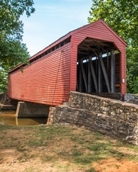 Loys Station Covered Bridge in Thurmont Maryland