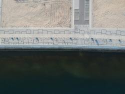 Luanda bay path border water at bay