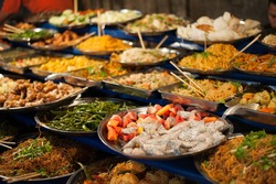 Luang Prabang buffet.
