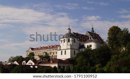 Lublin, Old Town, St. Stanislaus Basilica, 2, Złota 9 street Zdjęcia stock ©