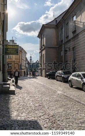 Lublin, Poland - Jul 27, 2018: Streets and architecture of the old city of Lublin. Lublin is the ninth largest city in Poland. #1159349140