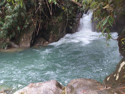 Lubok Degong by the local words or Gepai waterfall in small town of Bidor located 11o km from Kuala Kangsar city the state of Perak west Peninsular