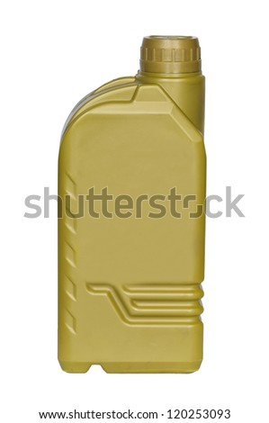 Lubricating oil bottle isolated on a white background