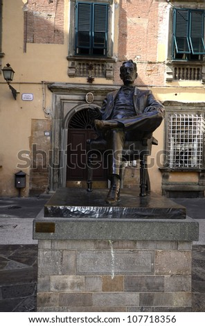 LUCCA, ITALY - JUNE 11: memorial for well known classical composer Giacomo Puccini who was born in Lucca and lived there for many years on June 11, 2012 in Lucca, Italy