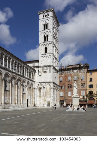 Lucca, Italy, the Cathedral of Saint Michele
