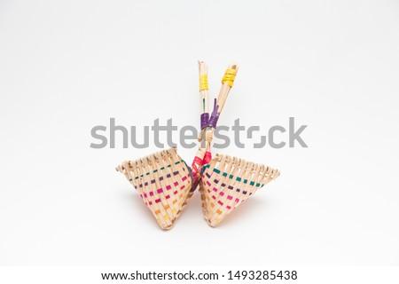 Lucky bag named bok jo ri isolated  Stock fotó ©