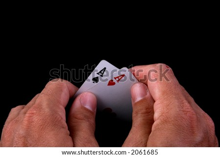 lucky draw hand of poker