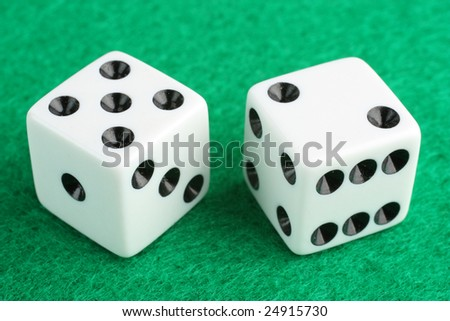 Lucky seven dice macro closeup