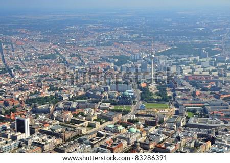 Luftbild, Berlin Zentrum