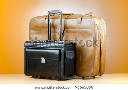 Luggage concept with big case - stock photo
