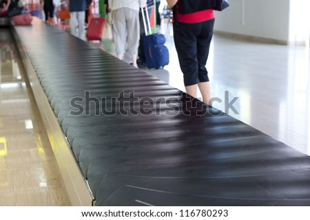 luggage track at an airport