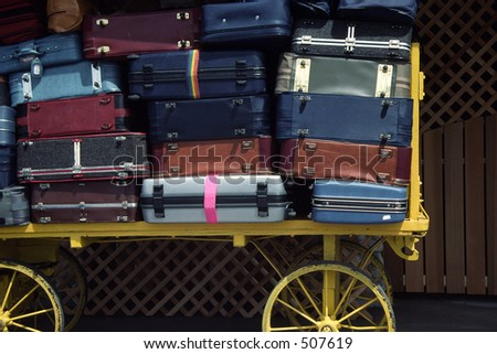 Luggage waiting to be loaded