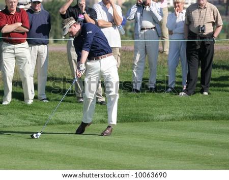 luke donald golf. luke donald artwork. stock