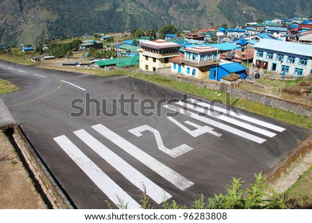 Lukla airport (village in the Khumbu area of the Solukhumbu District in the Sagarmatha Zone of north-eastern Nepal)