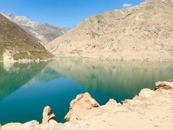 lulusar Lake situated side by the Kaghan valley in the way to babusar top. It is a reflexable mirror lake with an undefined depth.The mountains beside the lake have a mirror shade on the lake .