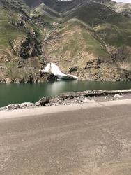 Lulusar, or Lalusar, is a group of mountain peaks and a lake in the Kaghan Valley in the Khyber-Pakhtunkhwa province of Pakistan.This road side view is absolutely stunning. The lake water is very calm