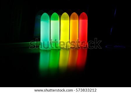 Luminescence of aqueous solution of Quantum dots #573833212
