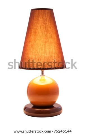 Luminous desk lamp, isolated on white background