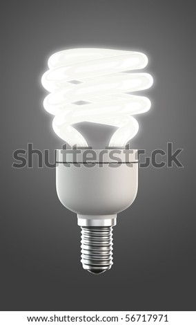 luminous energy saving lamp with clipping path