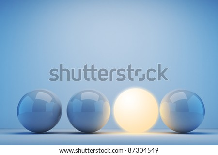 Luminous sphere. Innovation concept. 3d illustration