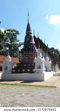 Lumpang Buddhist Temples which are located in the northern of Thailand. Stok fotoğraf ©