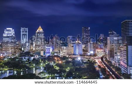 Lumpinee park, Bangkok, Thailand - stock photo