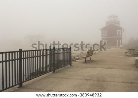 Luna Pier Fog #380948932
