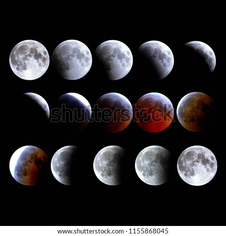 Lunar Eclipse and Super Moon phases.
