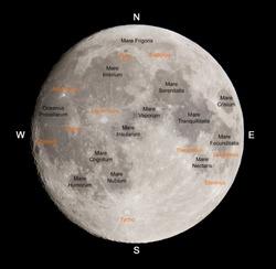 Lunar map.
