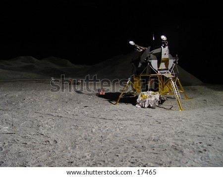 Lunar module landed on the moon
