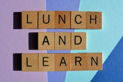 Lunch and Learn, modern buzzwords. Voluntary training session or presentation during employee lunchtime.