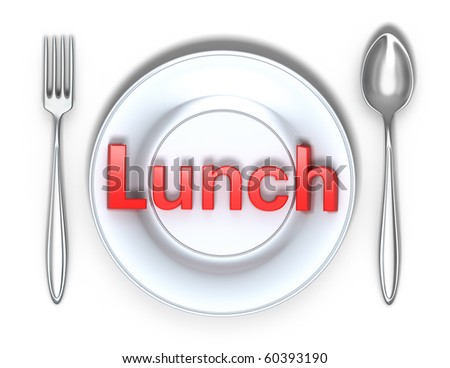 Lunch concept isolated on white