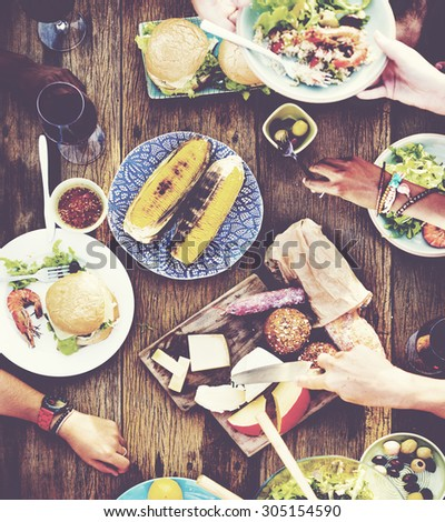 Lunch Launcheon Outdoor Dining People Concept