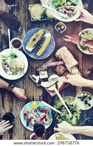 Lunch Luncheon Outdoor Dining People Concept