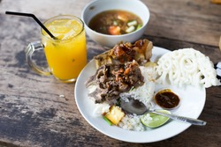 Lunch with oxtail soup. This is one of the typical indonesian food that everyone enjoys in the world.