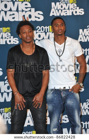Lupe Fiasco (left) & Trey Songz at the 2011 MTV Movie Awards at the Gibson Amphitheatre, Universal Studios, Hollywood. June 5, 2011  Los Angeles, CA Picture: Paul Smith / Featureflash