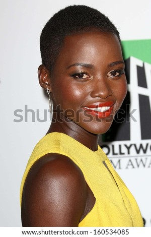 Lupita Nyong'o at the 17th Annual Hollywood Film Awards Arrivals, Beverly Hilton Hotel, Beverly Hills, CA 10-21-13