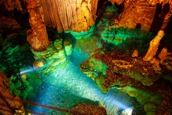 Luray Caverns wishing well. Shenandoah Virginia