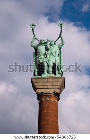 Lure Blowers statue in Copenhagen, Denmark